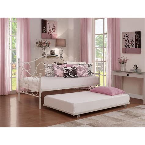 18362 white size trundle bed dhp universal daybed size trundle in white 5585096