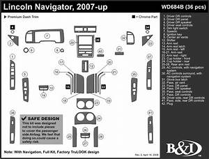 Lincoln Navigator 2007 2008 2009 2010 2011 Dash Trim B