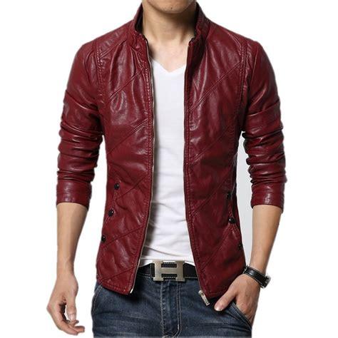 jaket wolverine brown mens leather jacket 2017 autumn winter slim fit faux
