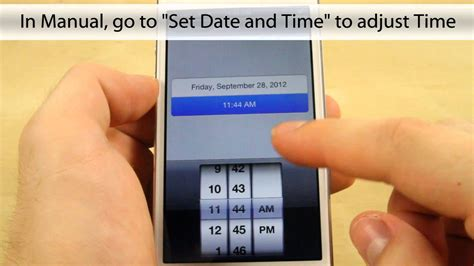 how to set time on iphone how to set date and time on the apple iphone 5