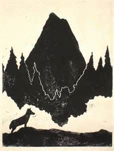 Mountain Wolf Print Art