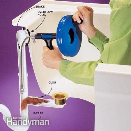 how to unclog a bathtub how to clear clogged drains the family handyman