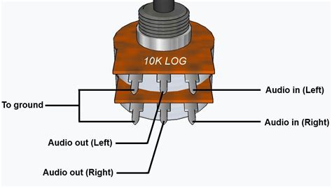 wiring stereo volume pot search electronics