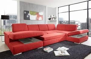 Wohnlandschaft Rot : san marino von poco wohnlandschaft rot sofas couches ~ Pilothousefishingboats.com Haus und Dekorationen
