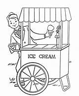 Ice Cream Coloring Getdrawings sketch template