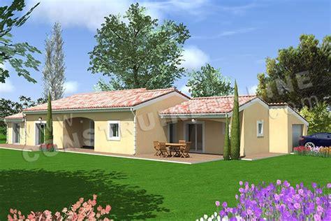 plan maison plain pied 3 chambres 1 bureau vente de plan de maison