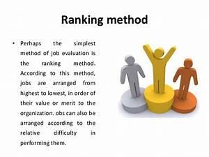 Methods of job evaluation - compensation management - Manu ...