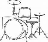 Coloring Drum Drawing Kit Drums Kits sketch template