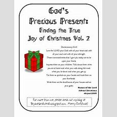 God's Precious Present Finding The True Joy Of Christmas Vol 2  My Christian Ed Resources