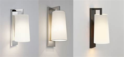 astro lago 280 bathroom wall light 60w e27 chrome bronze