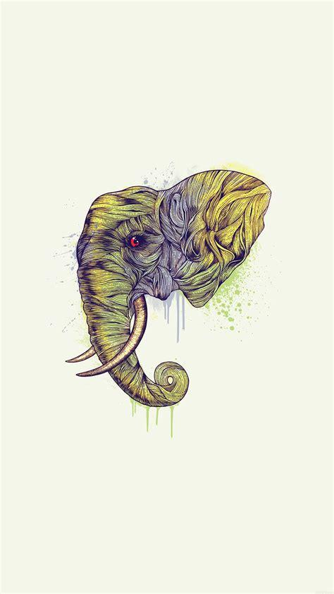 ah elephant art yellow illust drawing animal wallpaper