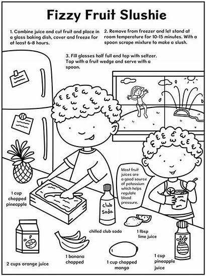 Coloring Slushie Healthy Recipes Eating Recipe Doverpublications