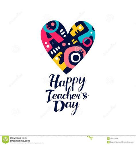 happy teachers day logo creative template  greeting