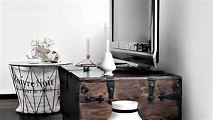 Idee Meuble Tv Fait Maison : coin t l avec meuble d co et id e originale c t maison ~ Melissatoandfro.com Idées de Décoration