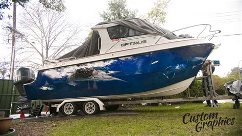 Custom Boat Graphics Pictures by Exclusive Boat Design And Boat Wraps Custom Graphics