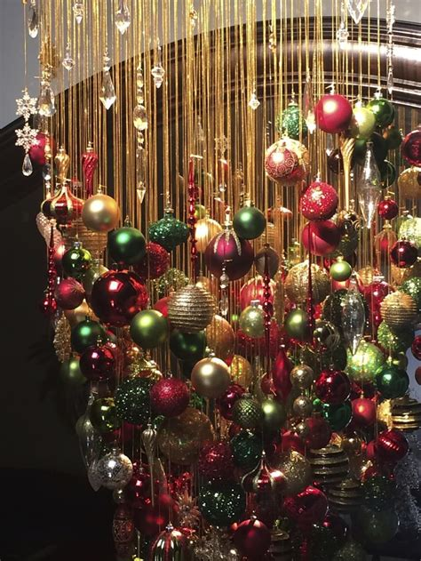 ideas  christmas chandelier  pinterest