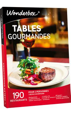 wonderbox cuisine coffret cadeau tables gourmandes box gastronomie wonderbox