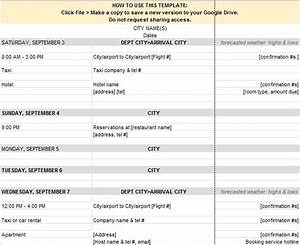 30 itinerary templates travel vacation trip flight for Itenary template