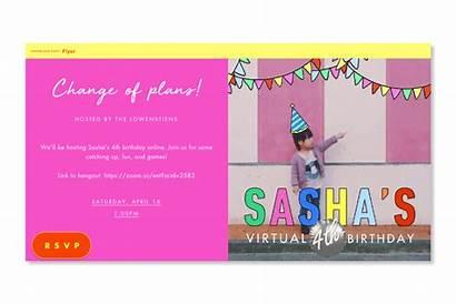Virtual Event Invitation Birthday Host Social Kid
