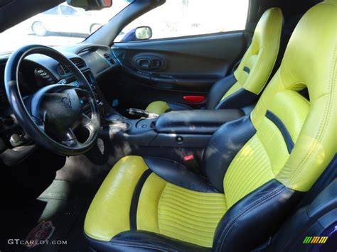 Auto Upholstery Indianapolis by Yellow Black Interior 1998 Chevrolet Corvette Indianapolis