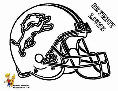 Lions Coloring Detroit Football Helmet College Boys
