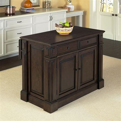 Home Styles Prairie Home Black Oak Kitchen Island With