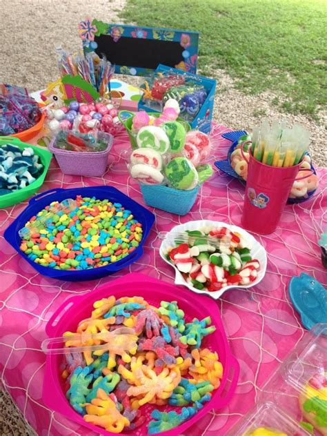 candy buffet jessies bubble guppies party candy bar