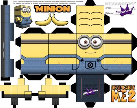 minion template despicable me minion with two template by skgaleana on deviantart