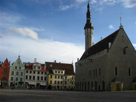 town square   oldest gothic town hall  europe photo
