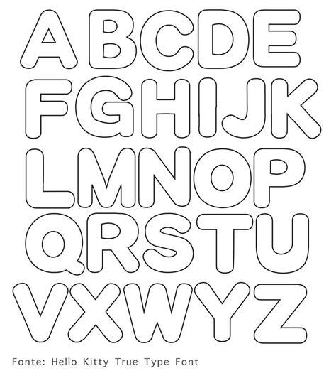 moldes de letras em para imprimir e usar em mural mensagens e atividades