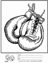 Coloring Boxing Gloves Printable Sheets Clipart Adult Drawing Unicorn Outline Library Texas Hanging Adults sketch template