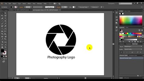 how to make photography logo youtube