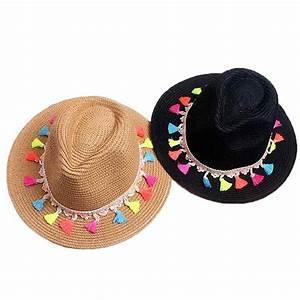 Chapeau Femme Été 2018 : chapeau de paille panama boho chic acces femme plage t 2018 ~ Nature-et-papiers.com Idées de Décoration