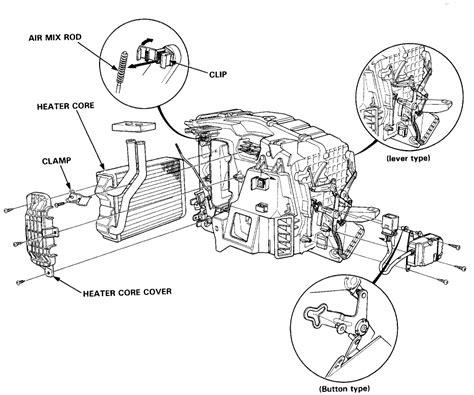 fix  honda element heater blend repair