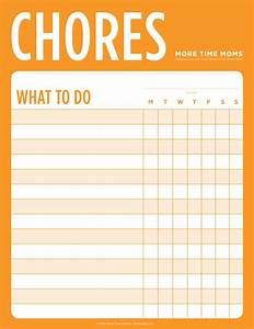 Weekly Chore Chart For Kids Chore Charts More Time
