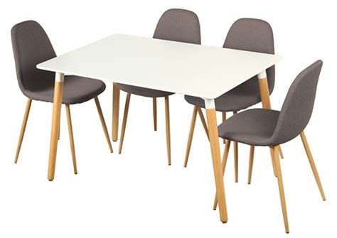tables de cuisine but table 4 chaises otis blanc chene