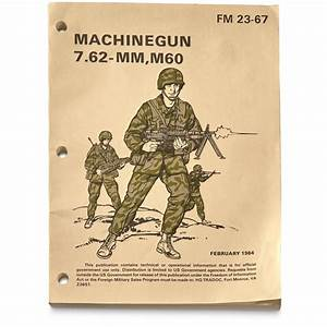 U S  Military Surplus 7 62 Machine Gun Manual  New