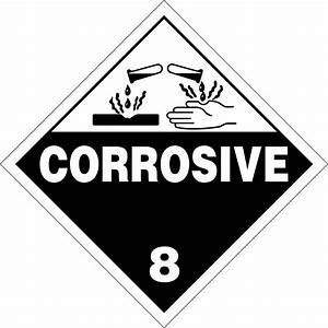 class 8 corrosives placards and labels according 49 With hazmat labels printable