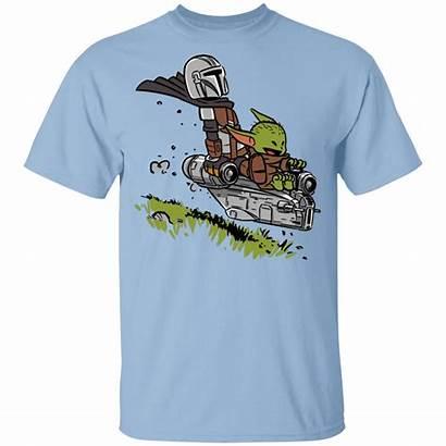 Mandalorian Yoda Youth Shirts Mando Child Calvin