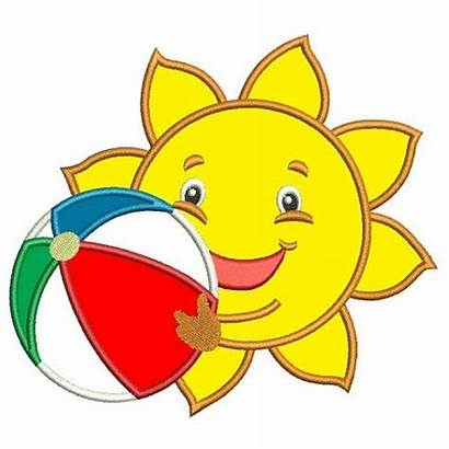Ball Beach Sun Summer Embroidery Machine Applique