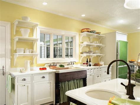 Painted Kitchen Shelves Pictures Ideas Tips From Hgtv