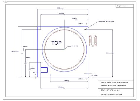 Thorens Td 125 Armboard Template by Sp10concept 1