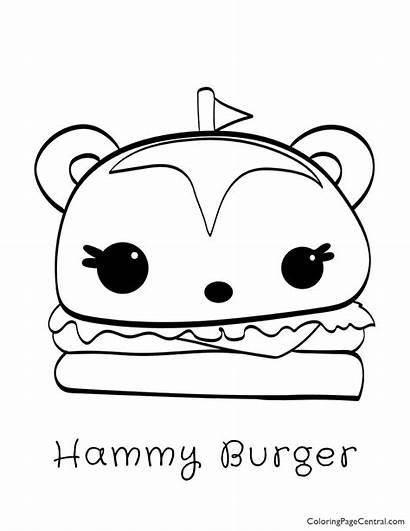Coloring Num Burger Noms Hammy