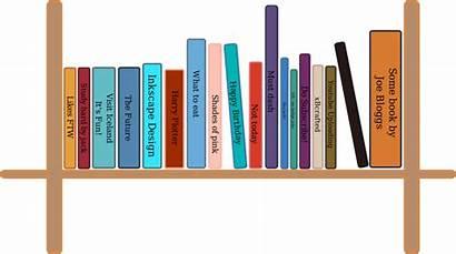 Clipart Books Bookshelf Shelf Library Clip Bookcase