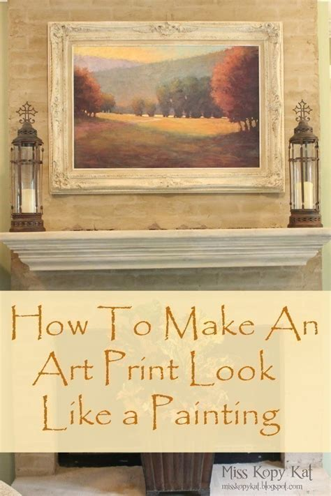 how to make an print look like a painting 183 how to make a framed decoration 183 home diy on