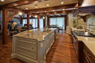 kitchen island chandeliers luxury timber frame traditional kitchen vancouver