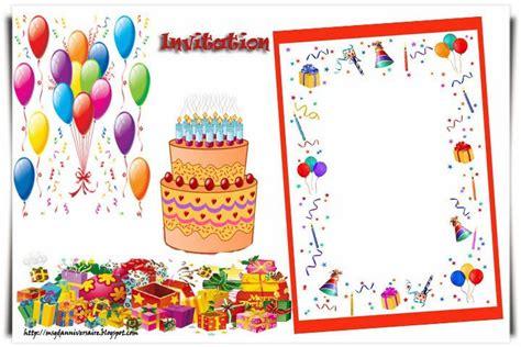 Invitation Anniversaire 6 Ans Carte Anniversaire Gratuite