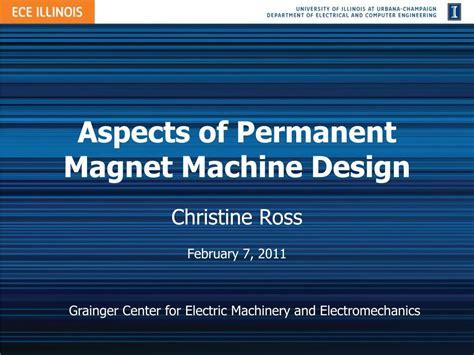 aspects  permanent magnet machine design