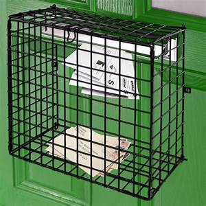 letterbox cage door mounted mail box letter guard basket With letter box cage