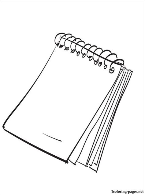 notepad coloring page coloring pages